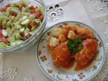 kotleciki w sosie pomidorowo-serowym