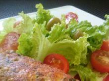 Kotleciki z boczku, kurczaka i oliwek