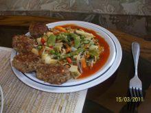 Kotleciki z kaszy,mięsa i pieczarek:)