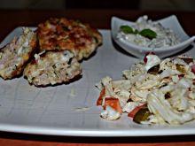Kotleciki z kurczaka i szynki z serem