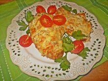 Kotleciki z kurczaka zapiekane z cebulą i serem