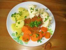 KOTLET z warzywami szybki obiad
