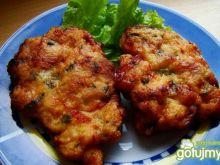 Kotlety drobiowo serowe z pieczarkami