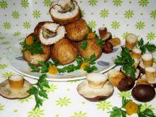 Kotlety mięsno ryżowe z grzybami leśnymi