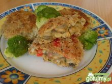 Kotlety pieczarkowo-kalafiorowe z serem