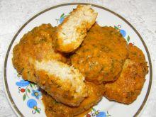 Kotlety rybne z sosem pomidorowo-warzywnym