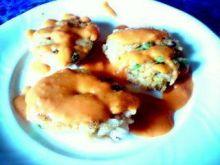 Kotlety ryżowe z groszkiem