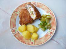 Kotlety schabowe z serem i warzywami