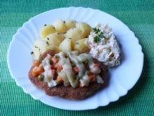 Kotlety schabowe z warzywami i serem