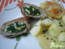Kotlety schabowe ze szpinakiem i serem