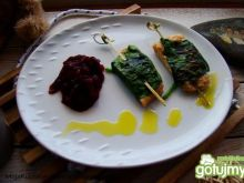 Kotlety sojowe grillowane w szpinaku