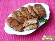 Kotlety z ziemniaków, mięsa i pieczarek