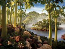 Wspaniałe krajobrazy z jedzenia