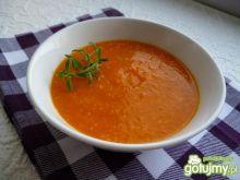 Krem marchewkowo-pomarańczowy z kuskusem