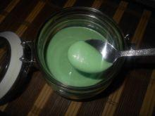 Krem miętowy z mlekiem w proszku