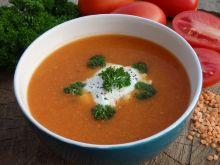 Krem pomidorowy z soczewicą
