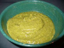 Krem z brokuła, cukinii i zielonego groszku
