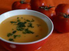 Krem z kabaczka z pomidorami