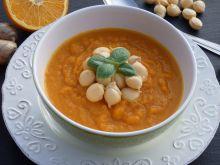 Krem z marchewki z imbirem i pomarańczą
