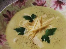 Zupa krem z porów z  szynką i serem żółtym