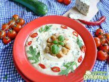 Krem z selera z serem lazur błękitnym