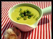 Krem z zielonego groszku i ziemniaków