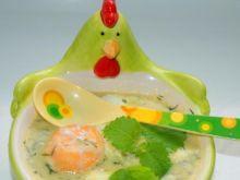 Krem z zielonych szparagów z jajkiem
