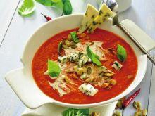 Krem ze świeżych pomidorów z serem roquefort