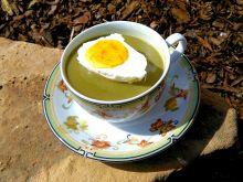 Krem ze szczawiu z jajkiem