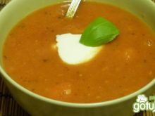 Kremowa pomidorowa z soczewicą