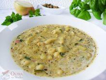 Kremowa zupa Prosciutto z pesto i conchigliette