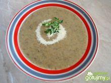 Kremowa zupa z leśnych grzybów