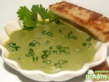 Kremowa zupa z zielonej sałaty