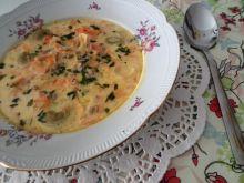 Kremowa zupa ze słonecznikiem