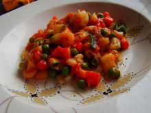 Krewetki z warzywami