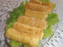 Krokiety sezamowe ze szpinakiem