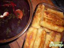 Krokiety z kapustą, grzybami i mięsem