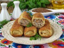 Krokiety z kaszą gryczaną i serem