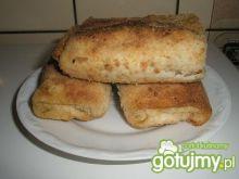 Krokiety z parówką, serem i ogórkiem