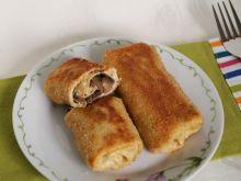Krokiety z pieczarkami, oliwkami i mozzarellą