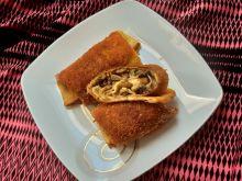Krokiety z pieczarkami, szynką i serem