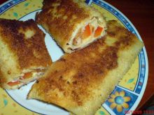 Krokiety z serem, wędlinką i papryką