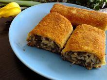 Krokiety z serem żółtym i pieczarkami