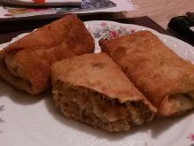 Krokiety z soczewicą, pieczarkami i serem