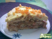 Krówkowy Tort z Orzechami