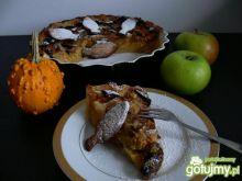 Krucha tarta jabłkowo- śliwkowa z dynią