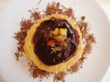 Kruche babeczki z masą czekoladowo-pomarańczową