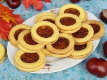 Kruche ciasteczka cytrynowe z kremem toffi