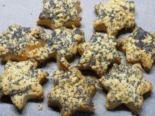 Kruche ciasteczka z makiem i orzechami
