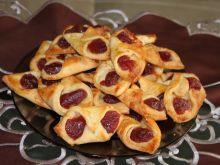 Kruche ciasteczka z serem i marmoladą